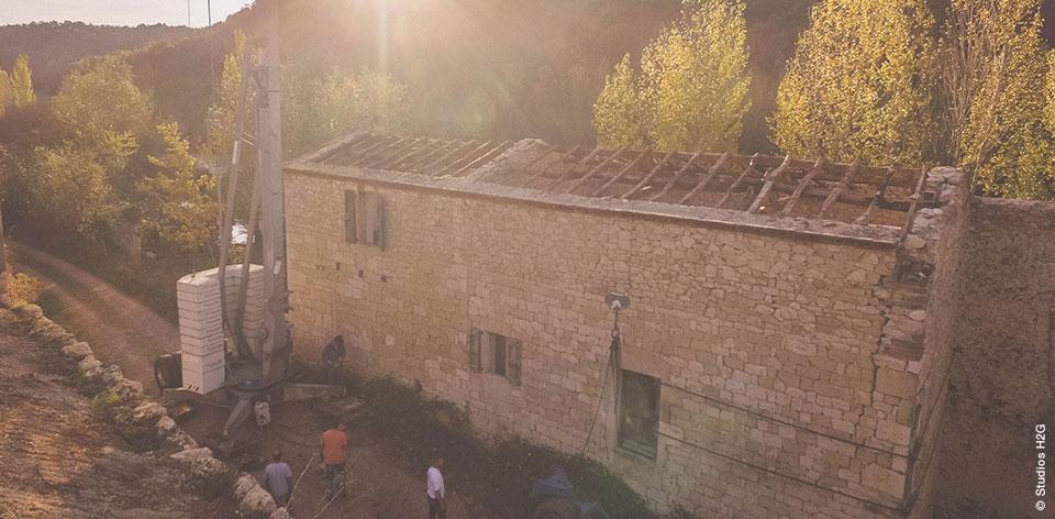 Réalisation de maçonnerie et rénovation d'une bâtisse ancienne du XIXe siècle par l'entreprise Bulditec