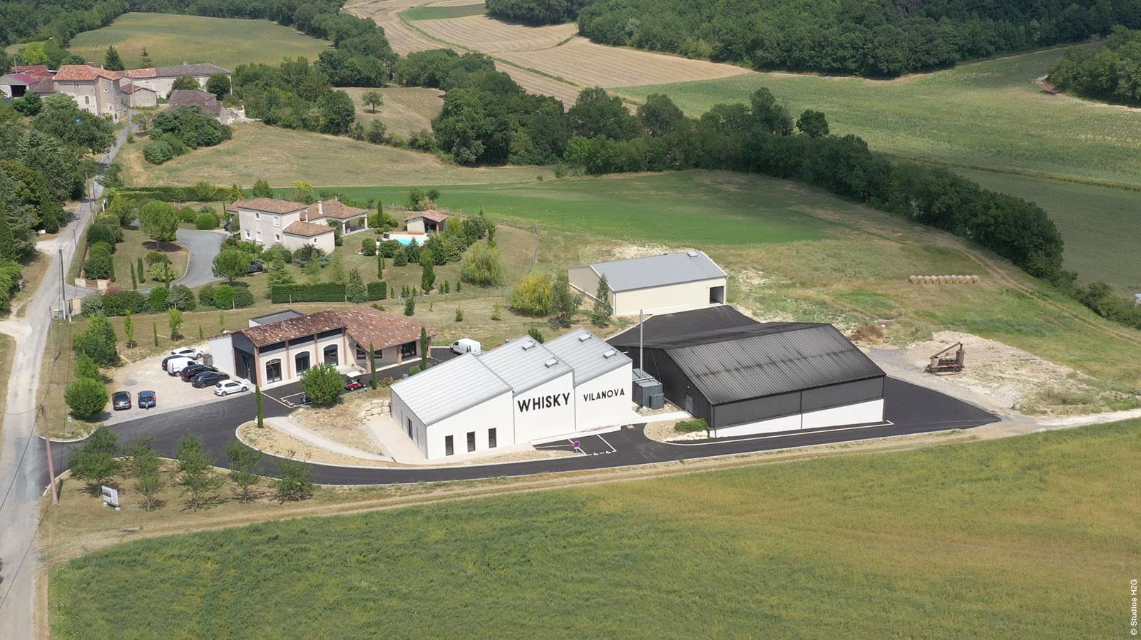 Distillerie Castan extension construction réalisé par bulditec