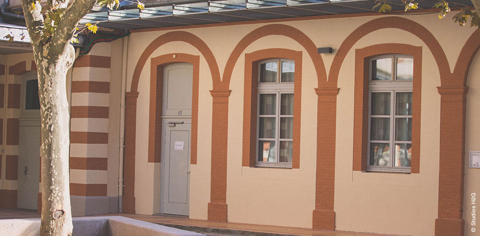 Façade du lycée Lapérouse rénovée par Bulditec